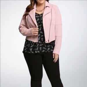 Torrid Moto Jacket Pink 1X Plus size